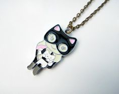 Little Catwoman Necklace by yummypocket on Etsy <3