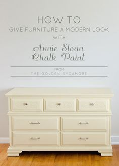 How to Give Old Furniture a Modern Look with Chalk Paint