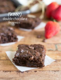 These double-chocolate super fudgy brownies are made with no oil, no butter, and no flour! But the great news is - no weird veggies or beans...