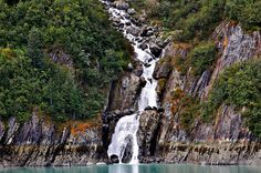 Waterfall in Tracy Arm, Alaska