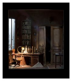 freud´s studio by Charles Matton
