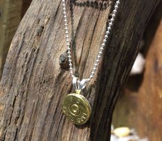 This bullet necklace by Spent Rounds Designs is so simple! Goes with everything!  .45 cal shell necklace; *Shotgun Shell Jewelry | Bullet Jewelry | Ammo Jewelry*