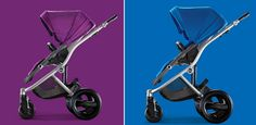 """Pin for a chance to win the Britax Affinity Stroller in either Cool Berry or Sky Blue (over a $699.89 value). One lucky Project Nursery reader will be strolling in style!"" - Project Nursery - Britax Cool Berry and Sky Blue Affinity Strollers"