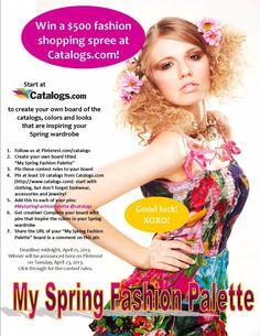 SpringFashionPalette My Spring Fashion Palette #MySpringFashionPalette @catalogs