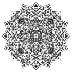 High Resolution Mandala Coloring for Stress Relief Free Download (PDF Format) Happiness never decreases by being shared. --Buddha