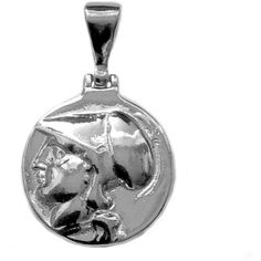 Sterling Silver Athena Greek Goddess Pendant ($66) ❤ liked on Polyvore featuring jewelry, pendants, silver, charm pendants, sterling silver jewelry, sterling silver charms pendants, pendant jewelry and sterling silver jewellery