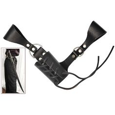 Sword Holder by Top Swords. $19.50. Genuine Leather Black Sword Holder. Can hold your Katana or Rapier Sword. It attaches to your belt