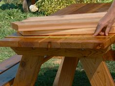 How To Build A Wood Picnic Table