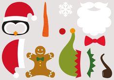 Des accessoires Photobooth de Noël, funs et 100% gratuits !