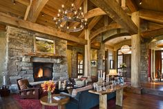 Love the log design and arches.
