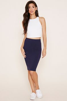 Cotton-Blend Pencil Skirt - $6.90