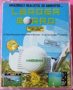 Leader Board ZX Spectrum cassette case (U.S. Gold)