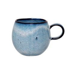 Sandrine mug 8 cm from Bloomingville - NordicNest.com Cappuccino Tassen, Cappuccino Cups, Coffee Mug Sets, Mugs Set, Earthenware, Stoneware, Design House Stockholm, Blue Cups, Espresso Cups Set