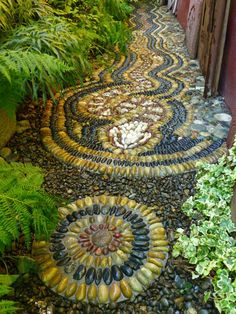 Gardens by Jeffrey Bale Pebble Mosaic