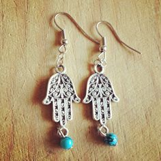 hamsa - fatima hand simple design earring   pls check my etsy shop to buy  #hamsahand #fatimahand #evil eye #arabic #design # handmade #etsy #pinit