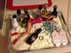 Awesome puke cake...