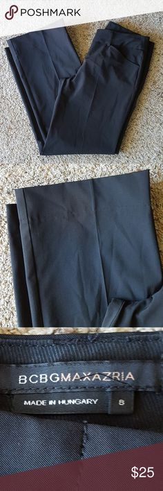 "BCBGMAXAZRIA Black Slacks Good condition  No visible flaws  Approx measurements:  Waist: 16""  Inseam: 29"" BCBGMaxAzria Pants"