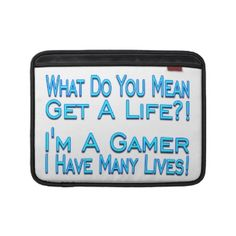 Many Lives Gamer MacBook Air Sleeve