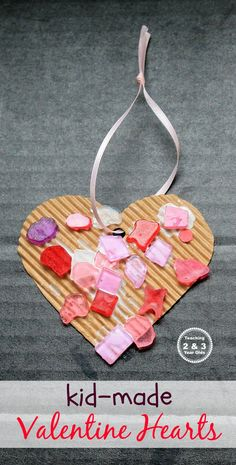 Preschool Valentine Craft - Great Last Minute Activity! -Teaching 2 and 3 Year Olds