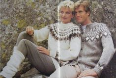 PDF Ladies Sweater and Mans Jacket Fair Isle Knitting Pattern . Womens 32, 34, 36 - 38, 40 inch bust . Mens 38, 40, 42 - 44 inch chest by PDFKnittingCrochet on Etsy