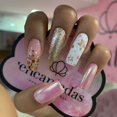 Super Cute Nails, Pretty Nails, Pink Nails, My Nails, Manicure, Animal Nail Art, Sassy Nails, Short Nail Designs, Best Acrylic Nails
