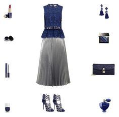 """""""Contest: Blue & Silver Outfit"""" by billsacred ❤ liked on Polyvore featuring Miss Selfridge, Sea, New York, Giuseppe Zanotti, Dolce&Gabbana, BaubleBar, Guerlain, Burberry, Nails Inc., Estée Lauder and Bobbi Brown Cosmetics"""