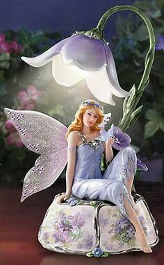 Enchanting Violet Musical,The Bradford Exchange,Lena liu,Southern Magnolia Fairy Statues, Fairy Figurines, Fable, Fairy Lamp, Fairy Pictures, Baby Fairy, Fairy Dolls, Fairy Houses, Light Table