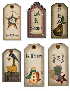 Free printable tags    http://thekrazykraftlady.blogspot.com