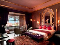 mirror-moroccan themed bedroom