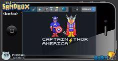 Captain America & Thor  #pixelart #sandbox #pixel #art #ios #iphone #superheroes #marvel