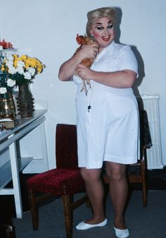Divine, backstage at Women Behind Bars. Photo: Robyn Beeche