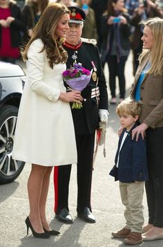 Kate, who is expecting her second child next month, chatted with Clare Barker, the mother of Zac (pictured) and Oliver Barker who play Lady Mary's son George
