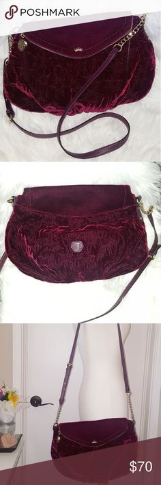 NWOT💋 Juicy Couture large red velvet crossbody Authentic, brand new & never carried. Beautiful burgundy color that is bound to turn heads! Perfect to carry all seasons! Has adjustable strap and very roomy. Best offer close to listing price will sell. Not budging much on this one. It's a gorgeous rare color and style. Juicy Couture Bags Crossbody Bags