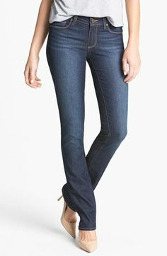 Paige Denim 'Skyline' Straight Leg Jeans (Moonrise) available at #Nordstrom