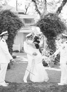 Romantic Military Wedding in Sonoma - Style Me Pretty Wedding Photography Inspiration, Wedding Inspiration, Wedding Ideas, Ceremony Dresses, Wedding Dresses, Military Spouse, Military Weddings, Navy Groom, Style Me