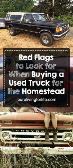 Great guide on how to pick a reliable used truck for homesteading + red flags that you might not think about.