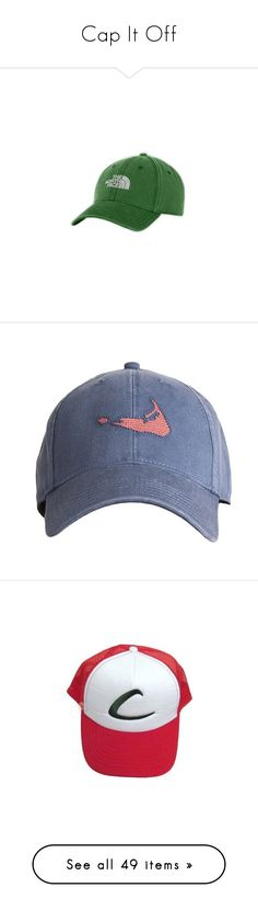 """""""Cap It Off"""" by scholarly-tongues ❤ liked on Polyvore featuring accessories, hats, hair, sullivan green, green hat, green caps, cap hats, the north face hat, the north face and men's fashion"""