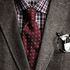 A lesson in layering: add tweed fabrics for a distinguished look. #MensWearhouse