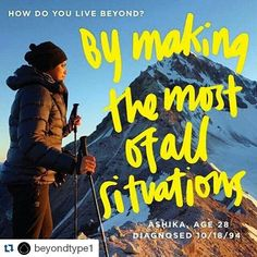 """If you haven't already check out @beyondtype1! These guys are building a community to help empower type 1s . #Repost #Throwback  Meet @ashikaparsad """"Diabetes has lead me to the most amazing people and the most beautiful places. Like many I have my ups and downs good days and bad days. I make a point of learning from them and making the most of all situations. I seek adventure and hope to inspire others to do the same through my stories. My name is Ashika and this is how I live beyond."""" #T1D…"""