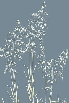 Detailed elegant grass stencil 1 large sheet stencil The Wild Slender Oat Grass Stencil is inspired by long elegant wild oat grasses with their tall swaying stems an. Stencil Patterns, Stencil Designs, Wild Grass, Glass Engraving, Diy Inspiration, Wood Burning Patterns, Sgraffito, Linocut Prints, Printmaking