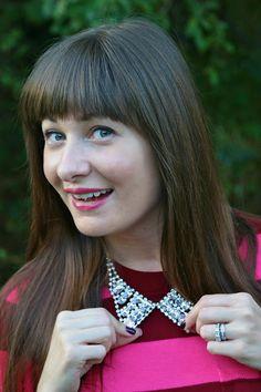 Rocking a fabulous Charlotte Russe collar!