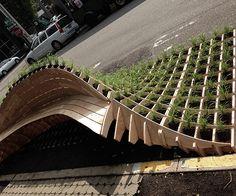"""jeroenapers: """" Van een parkeerplaats naar een stukkie groen met een mooi zitje. LIFT te zien in Portland, Oregon van DAMD (Dis-section Architecture Media Design) Seguir leyendo """""""