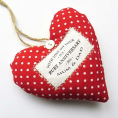 Ruby Wedding Anniversary Gifts On Pinterest
