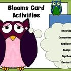 Great for small group, whole class, or independent work!Contains:* Page-size Blooms question stems for each level of Blooms* Small cards for ce...