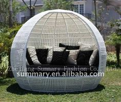 Pe Rattan Round Bed - Buy Pe Rattan Round Bed,Day Bed,Round Bed Product on Alibaba.com