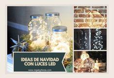 Ideas con luces navideñas para decorar interiores de forma original Luz Led, Fiesta Ideas, Ideas Para, Christmas, Decorating Ideas, Food, Christmas Swags, Christmas Lights, House Decorations