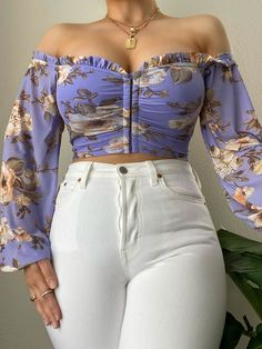 Long Sleeve Outfits, Crop Top Outfits, Casual Summer Outfits, Chic Outfits, Fall Outfits, Fashion Outfits, Girls Fashion Clothes, Clothes For Women, Short Ankara Dresses