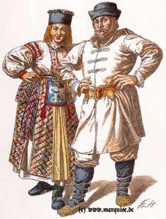 Mädchen aus Insterburg, Bauer aus Ragnitz, 1. Hälfte 18. Jh.