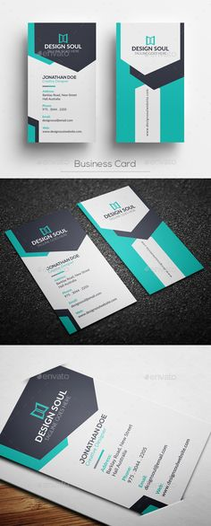 Business Card Template - Corporate Business Cards Download here: https://graphicriver.net/item/business-card-template/19993981?ref=classicdesignp