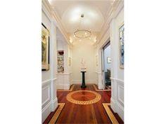 Beautiful custom wood floor inlays in a Boston apartment